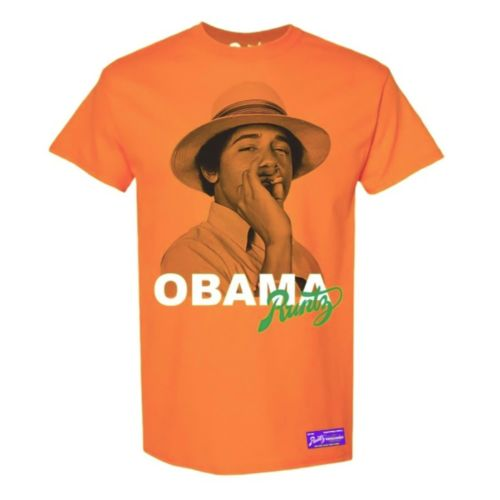 Obama T-Shirt By Runtz - Orange