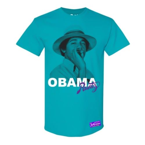 Obama T-Shirt By Runtz - Teal