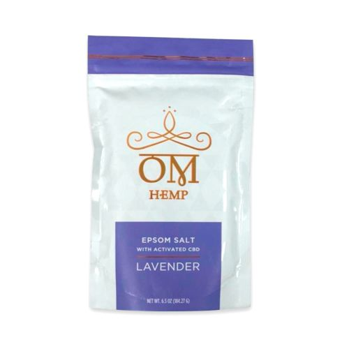 Lavender Epsom Bath Salts with Activated CBD from Om Wellness