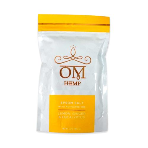 Lemon, Ginger & Eucalyptus Epsom Bath Salts with Activated CBD from Om Wellness