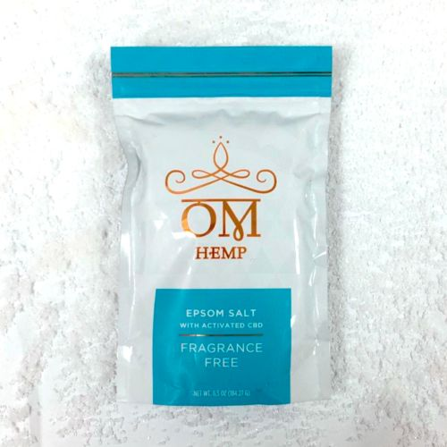 Fragrance Free Epsom Bath Salts with Activated CBD from Om Wellness