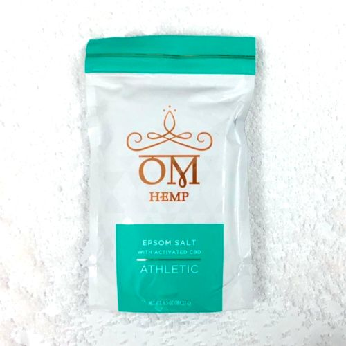 Athletic - Peppermint, Camphor & Eucalyptus Epsom Bath Salts with Activated CBD from Om Wellness