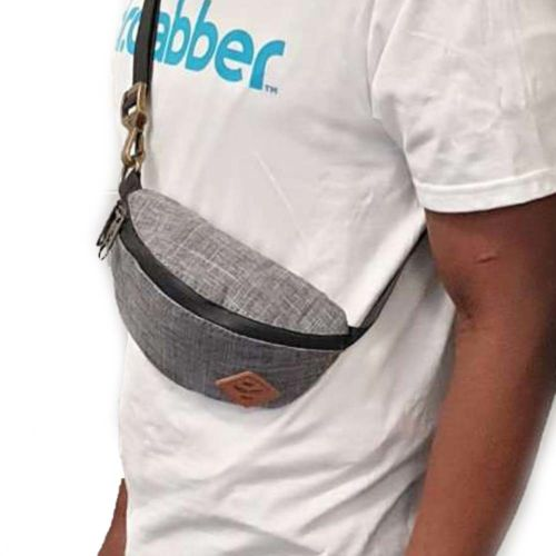 The Amigo Dark Striped Grey Cross Body Waist Bag by Revelry Supply