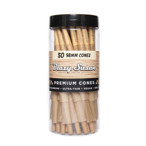 Blazy Susan Ultra-Thin Pre Rolled Cones -  Brown Box 50