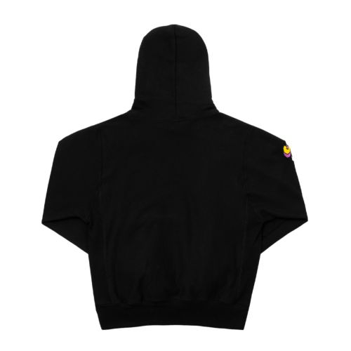 Purple Invaders Core Hoodie by The Smokers Club - Black