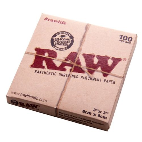 RAW Unrefined Parchment Paper 3x3 - 100 Per Box