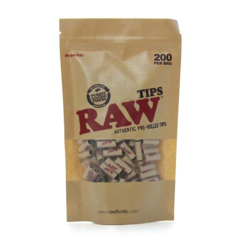 Raw Pre Rolled Tips of 200pcs Per Bag