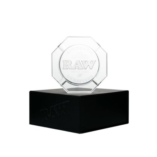 Heavy Duty Crystal Glass Ashtray by RAW