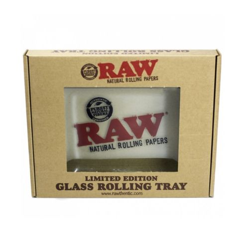 Mini Double Thick Glass Rolling Tray by RAW