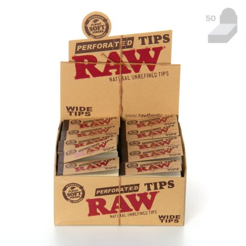 RAW Raw Perforated Wide Tips (50/Booklets, 50/Box)