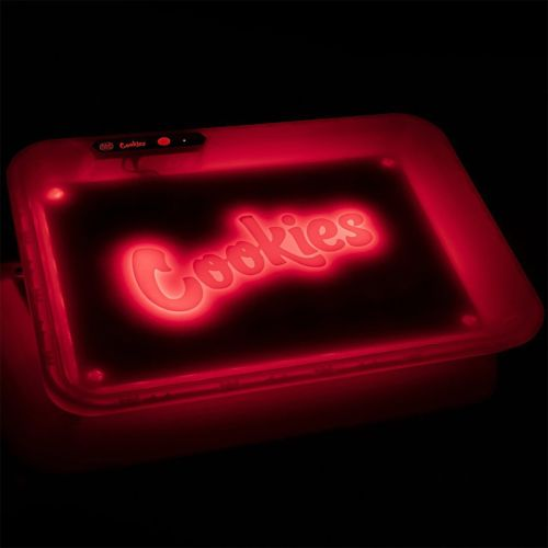 Glow Tray x Cookies (Red) LED Rolling Tray by Glow Tray