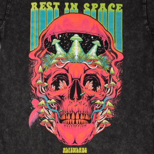 Rest In Space T-Shirt by Alien Labs – Stone Washed