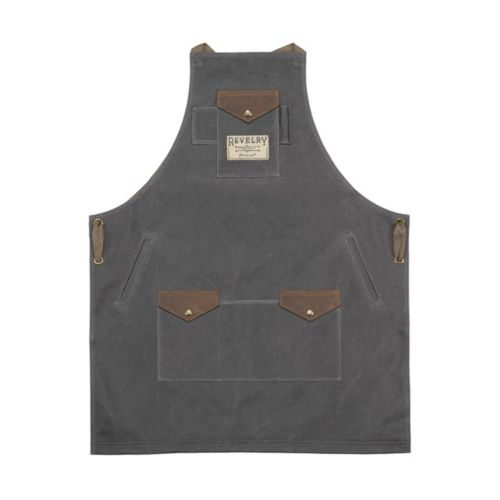 The Apron in Canvas Ash by Revelry Supply
