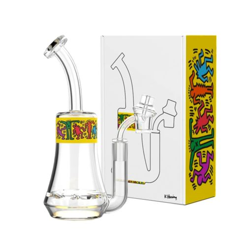 Yellow Glass Concentrate Rig by Keith Haring