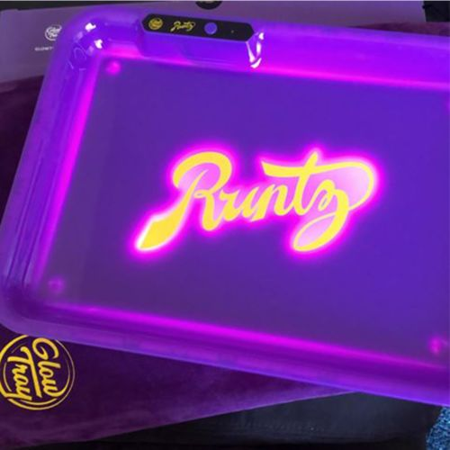 Glow Tray x Runtz (Purple) LED Rolling Tray by Glow Tray