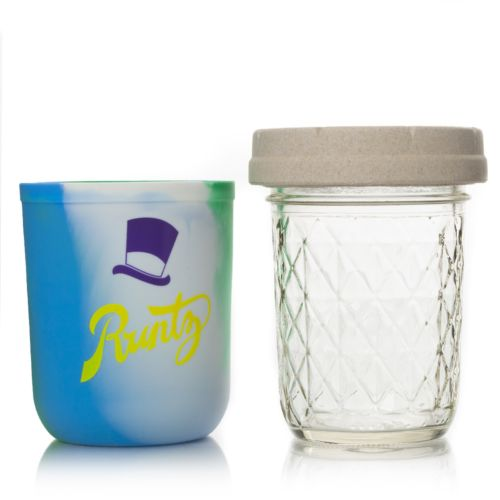 Ocean Tie Dye 8oz Runtz Mason Stash Jar by RE:STASH