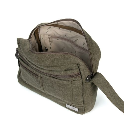 Hemp Medium Smart Shoulder Bag by Sativa Bags
