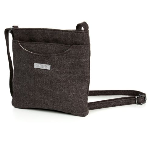 Hemp Flat Petite Shoulder Bag by Sativa Bags