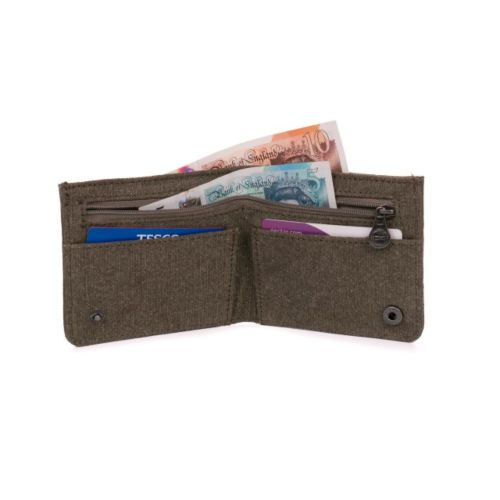 Hemp Flat Wallet by Sativa Bags