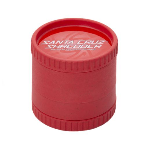 Red 4-Piece Hemp Grinder by Santa Cruz Shredder