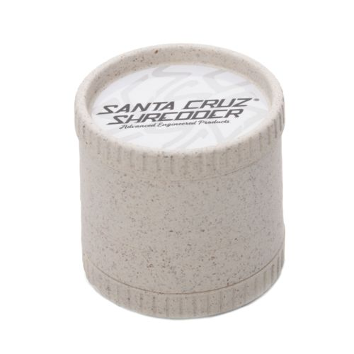 White 4-Piece Hemp Grinder by Santa Cruz Shredder