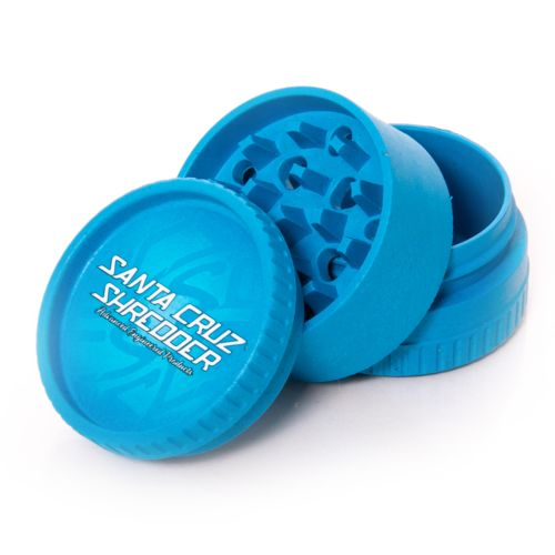 Santa Cruz Shredder Hemp Grinder - 3 Piece (Blue x1)