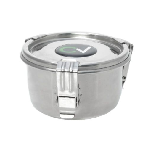 CVault Stainless Steel Holder With Boveda Humidity Pack - .175 Liters