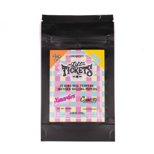 Smarties - 25 Terpene Infused Rolling Papers by Lift Tickets 710