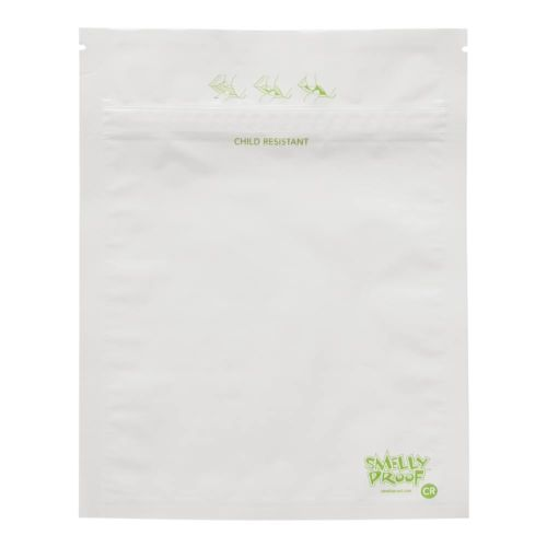 Child Resistant White Storage Bags by Smelly Proof Bags
