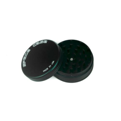 2 Piece (Medium) Magnetic Matte (Black) Space Case Grinder