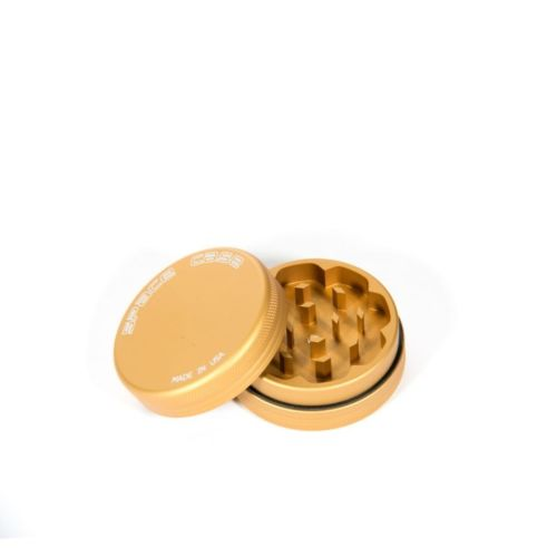 2 Piece (Small) Magnetic Matte (Gold) Space Case Grinder