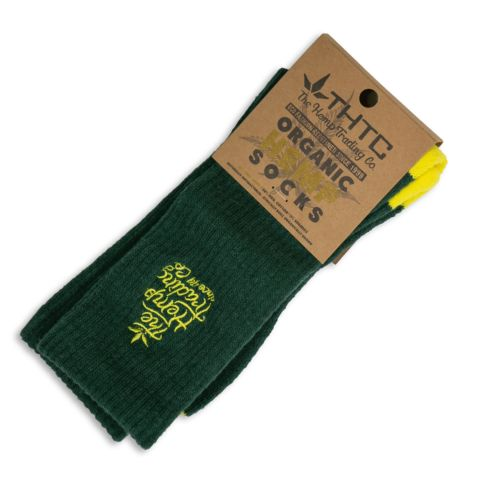 Organic Hemp Socks w/ The Hemp Trading Co Stitching by THTC