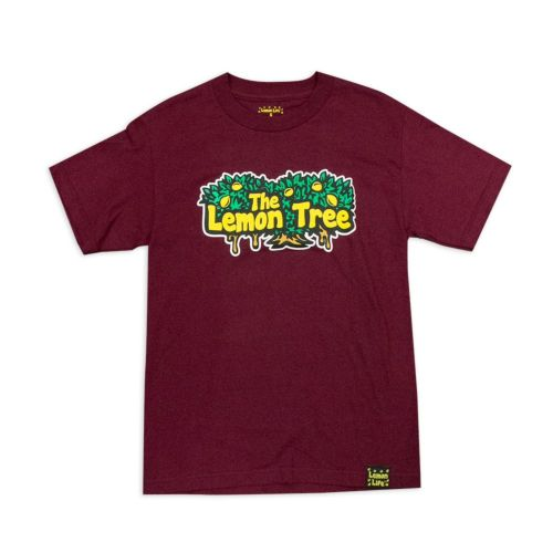 "The Lemon Tree ""Original T-Shirt"" in Maroon by Lemon Life SC"