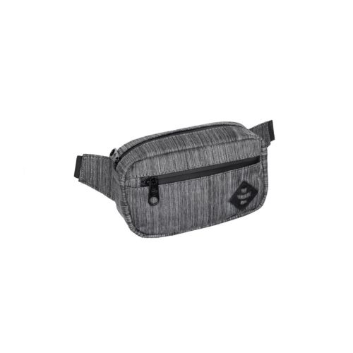 The Companion Dark Striped Grey Cross Body Waist Bag by Revelry Supply
