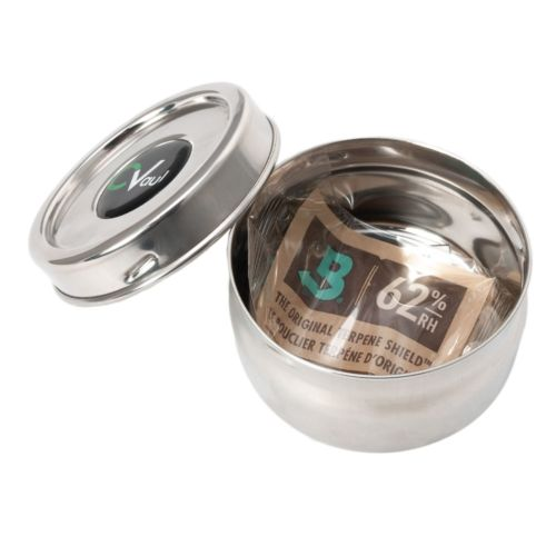 CVault Twist - Stainless Steel Holder With Boveda Humidity Pack - Small
