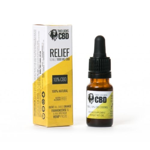 RELIEF 10% CBD OIL by Two Lions