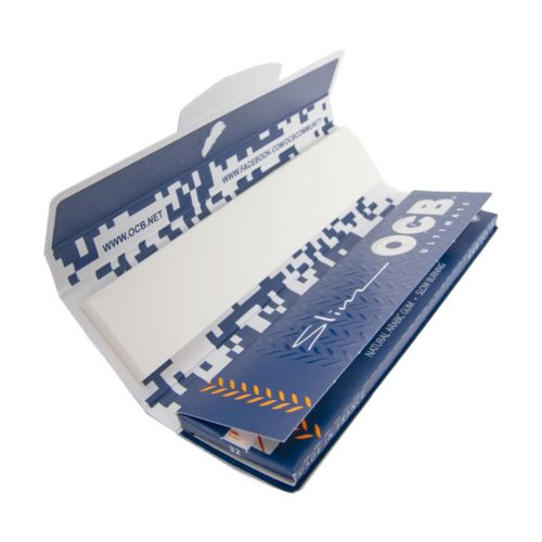 OCB Ultimate King-Size Slim Rolling Papers + Tips
