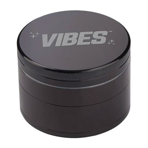 Black Aluminium 4 Piece Herb Grinder by Vibes x Aerospace
