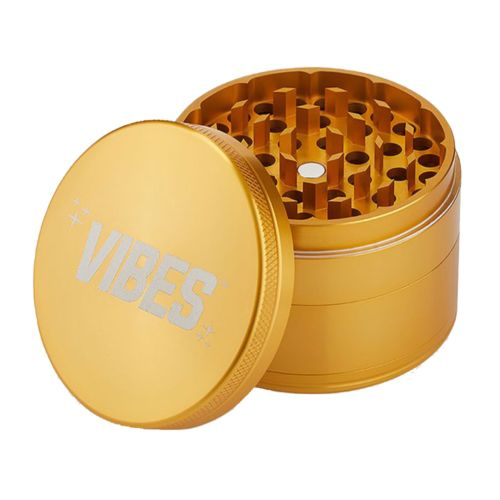 Gold Aluminium 4 Piece Herb Grinder by Vibes x Aerospace