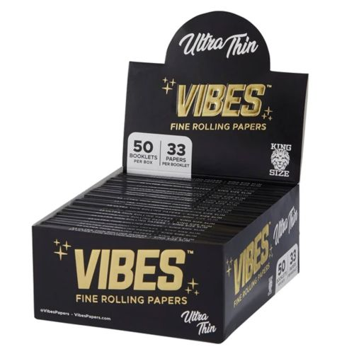Vibes Rolling Papers – King Size Slim Ultra Thin (Black)
