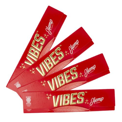 Vibes Hemp Rolling Papers – King Size with Tips