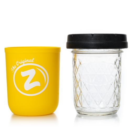 Yellow Zkittlez 8oz Mason Stash Jar by RE:STASH