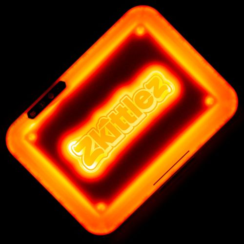 Zkittlez (Orange) LED Glow Rolling Tray by Glow Tray