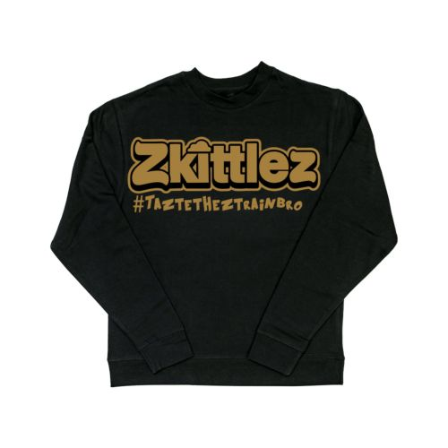 Official Zkittlez Taste The Z Train Gold Crewneck Sweater