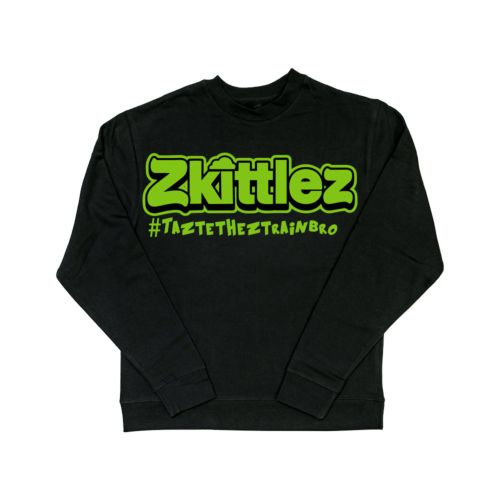 Official Zkittlez Taste The Z Train Neon Green Crewneck Sweater