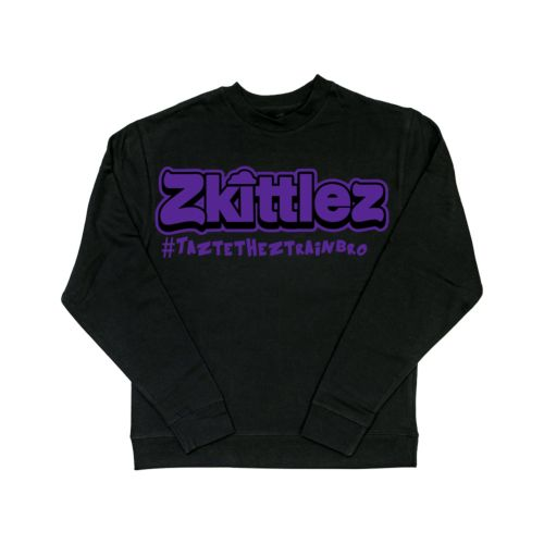 Official Zkittlez Taste The Z Train Purple Crewneck Sweater
