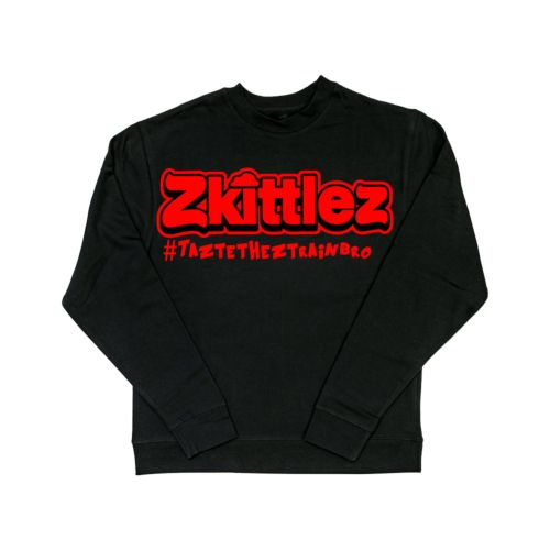 Official Zkittlez Taste The Z Train Red Crewneck Sweater