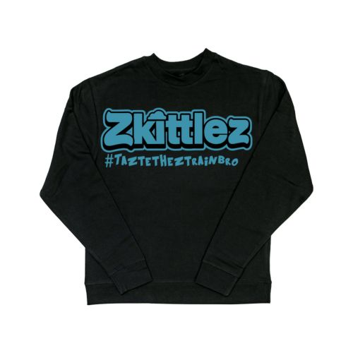 Official Zkittlez Taste The Z Train Teal Crewneck Sweater
