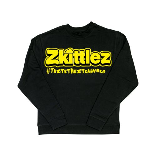 Official Zkittlez Taste The Z Train Yellow Crewneck Sweater