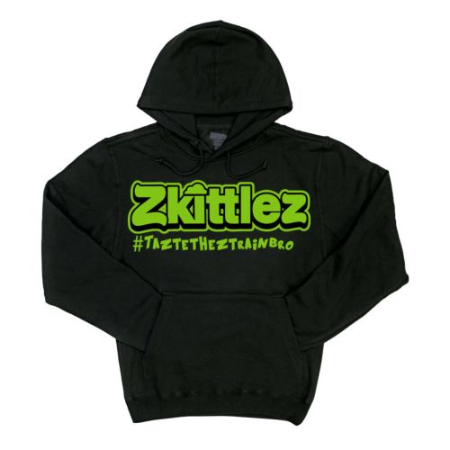 Official Zkittlez Taste The Z Train Neon Green Hoodie